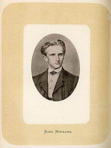 Alpenverein Gründer Karl Hofmann.