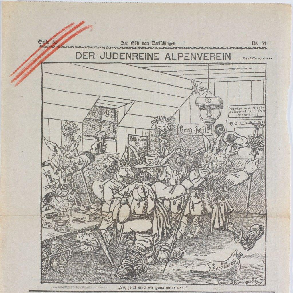 Karikatur Der judenreine Alpenverein