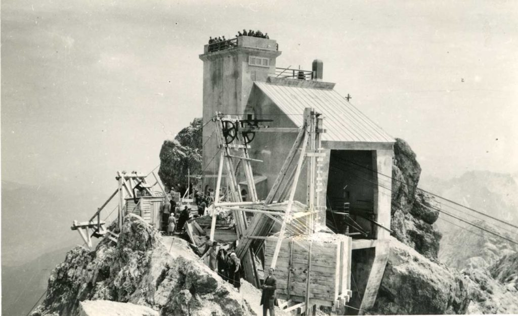 Bau-Zugspitzgipfelbahn-1930-DAV-Archiv