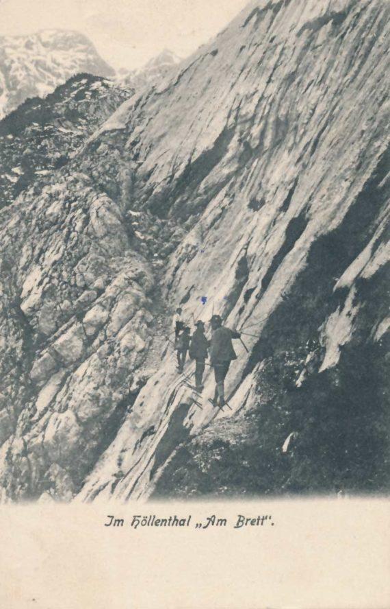 Zugspitze-Aufstieg-Hoellental-am-Brett-1895